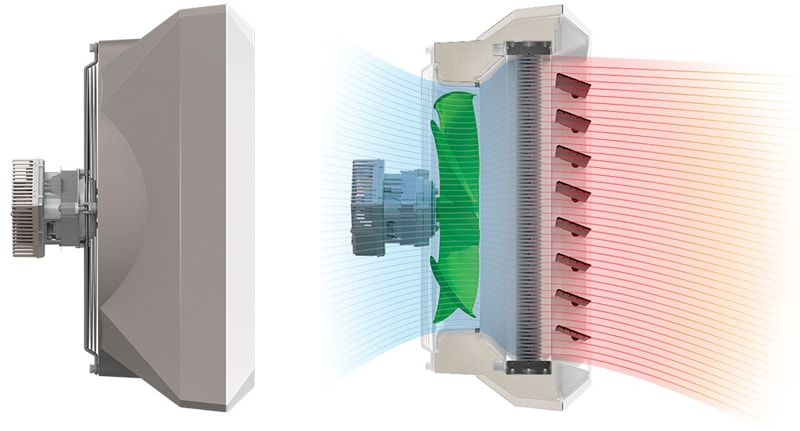 Усовершенствованная конструкция тепловентилятора Volcano VR EC