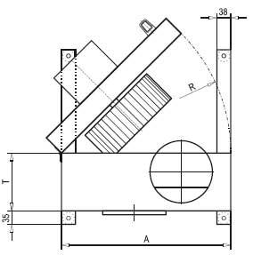 Габаритные размеры кухонного вентилятора