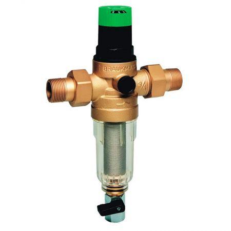 Промывной фильтр холодной воды с регулятором давления Honeywell FK06-1 1/4AA