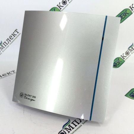 Вытяжной вентилятор Soler&Palau SILENT-200 CZ SILVER DESIGN - 3C