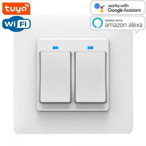 SMART Wi-Fi Выключатель 2-х клавишный