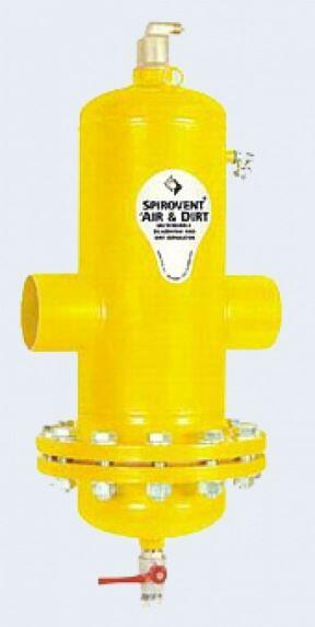 Сепаратор воздуха и шлама SpiroCombi Air & Dirt DN80 (фланец - сталь)