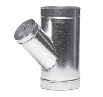 Тройник угловой ВЕНТС 125-45 для вентиляционных каналов