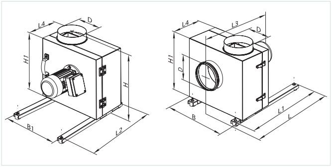 Габаритные размеры кухонного вентилятора ВЕНТС КСК
