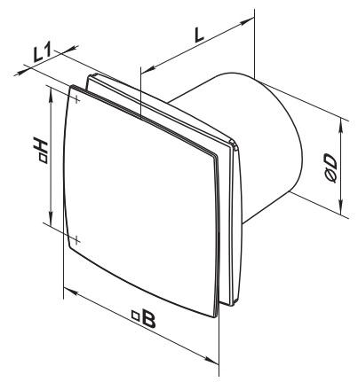 Габаритные размеры вентилятора ВЕНТС 125 ЛД