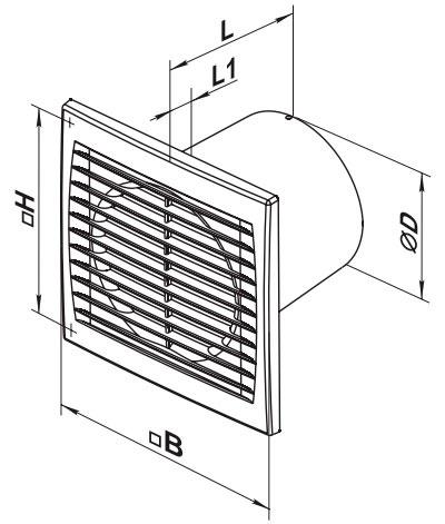 Габаритные размеры вентилятора ВЕНТС С