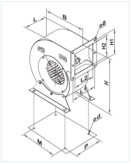Габаритные размеры вентилятора ВЕНТС ВЦУ 2Е 160х62